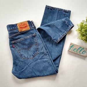 Levi's 505 mens medium wash blue jeans